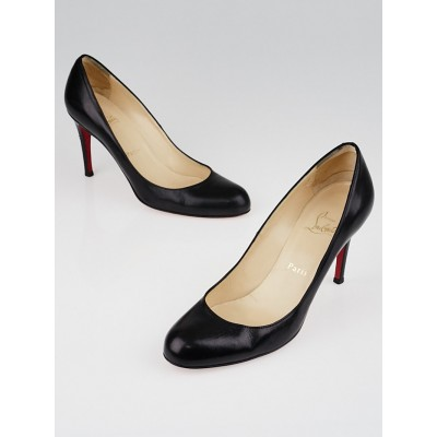 Christian Louboutin Black Leather Simple 85 Pumps Size 8/38.5