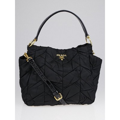 Prada Black Quilted Tessuto Nylon Shoulder Bag BR3780