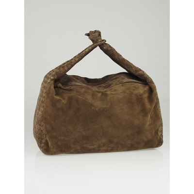 Bottega Veneta Suede Intrecciato Large Knot Hobo Bag