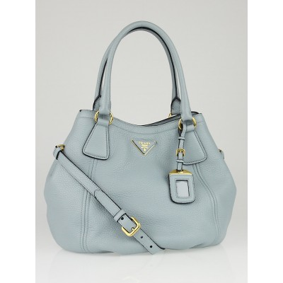 Prada Lago Vitello Daino Leather Tote Bag BN2792