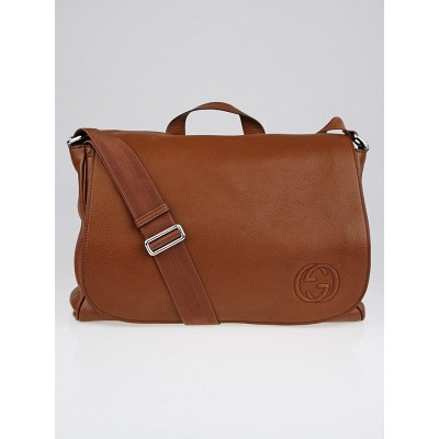 Gucci Brown Leather Soho Diaper Bag
