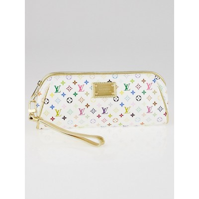 Louis Vuitton White Mini Monogram Multicolore Kate Clutch Bag
