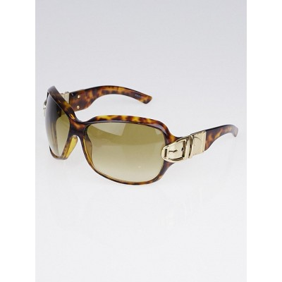 Gucci Brown Tortoise Shell Gradient Tint Buckle Sunglasses-2591/S