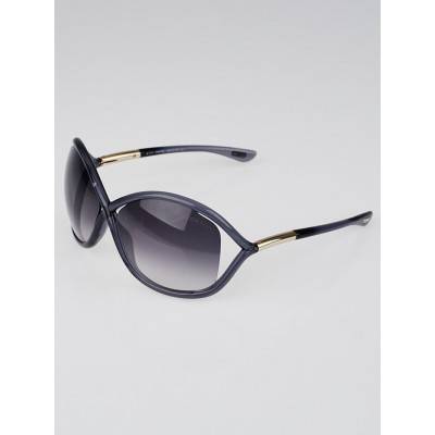 Tom Ford Grey Frame Gradient Tint Whitney Sunglasses