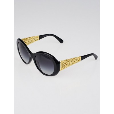 Chanel Black Acetate and Goldtone CC Bijou Sunglasses - 5262