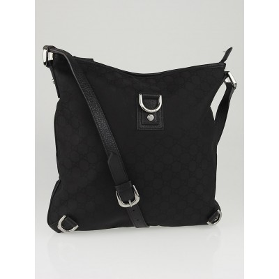 Gucci Black GG Canvas Abbey Messenger Bag