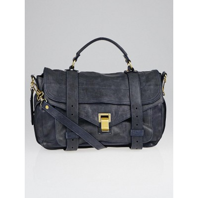 Proenza Schouler Midnight Leather Medium PS1 Satchel Bag