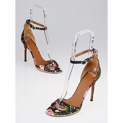 Givenchy Floral Print Leather Sandals Size 8.5/39
