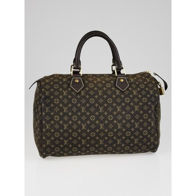 Louis Vuitton Ebene Monogram Mini Lin Speedy 30 Bag
