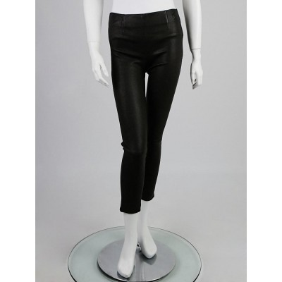 Louis Vuitton Black Lambskin Stretch Leather Leggings Size 6/38