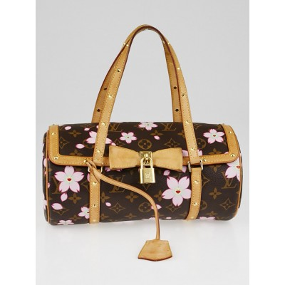 Louis Vuitton Limited Edition Monogram Cherry Blossom Papillon Bag