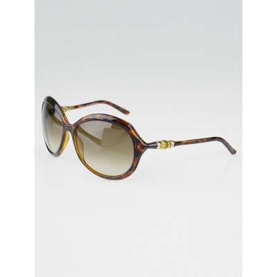 Gucci Brown Tortoise Frame Bamboo Sunglasses-3130