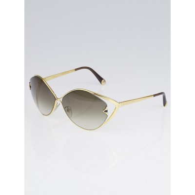 Louis Vuitton Goldtone Metal Frame Laurel Sunglasses Z0410U