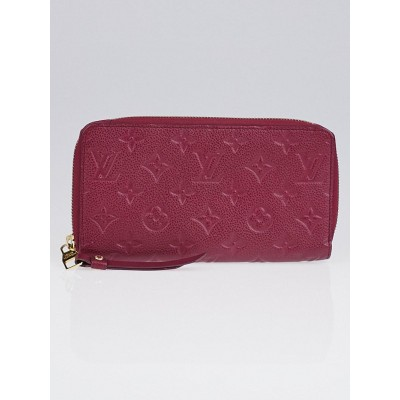 Louis Vuitton Flamme Monogram Empreinte Leather Secret Long Wallet