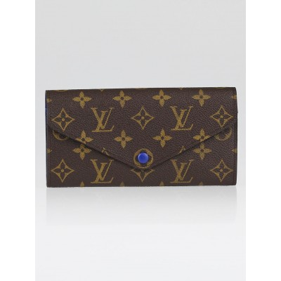 Louis Vuitton Monogram Canvas Blue Josephine Wallet