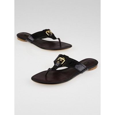 Louis Vuitton Amarante Monogram Vernis Flat Thong Sandals Size 8/38.5