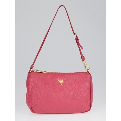 Prada Peonia Vitello Daino Leather Pochette Bag 1N1620