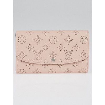 Louis Vuitton Magnolia Monogram Mahina Leather Iris Wallet