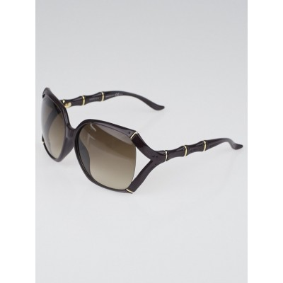 Gucci Purple Frame Bamboo Sunglasses-3508/S