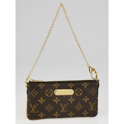Louis Vuitton Monogram Canvas Pochette Milla MM Bag