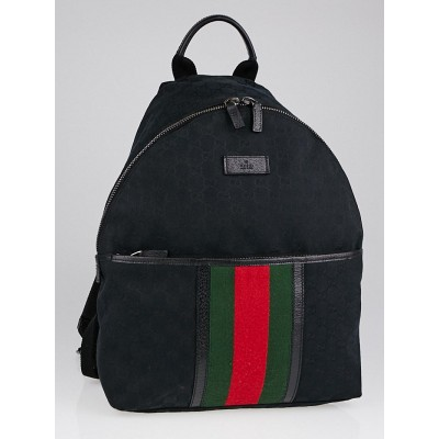 Gucci Black GG Canvas Original Backpack Bag