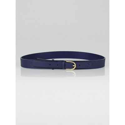 Louis Vuitton 30mm Bleu Infini Monogram Empreinte Leather Gracieuse Belt Size 90/36