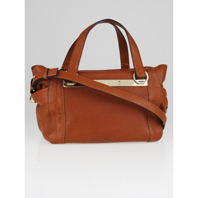 Chloe Brown Fox Chevre Leather Bridget Crossbody Bag