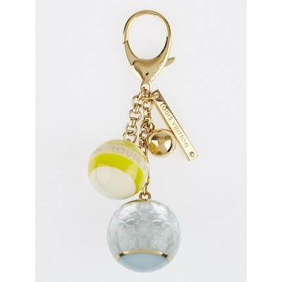 Louis Vuitton Blue/Yellow Resin Monogram Mini Lin Key Holder and Bag Charm