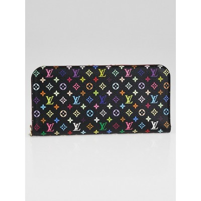 Louis Vuitton Black Monogram Multicolore Grenade Insolite Wallet
