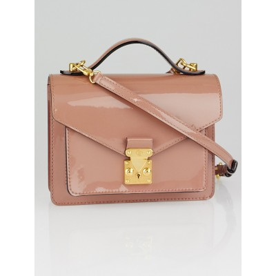 Louis Vuitton Rose Velours Vernis Leather Monceau BB Bag