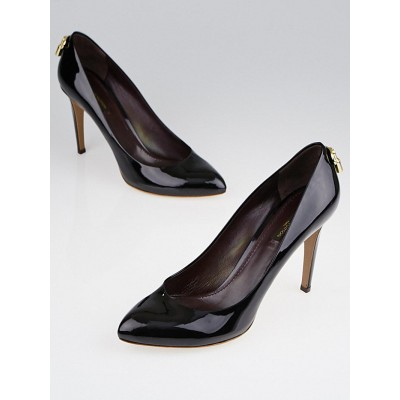 Louis Vuitton Black Patent Leather Oh Really! Pumps Size 9/39.5