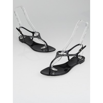 Valentino Poudre Crystal Thong Sandals Size 9.5/40