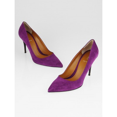Fendi Violet Suede Pointed Toe Pumps Size 9.5/40