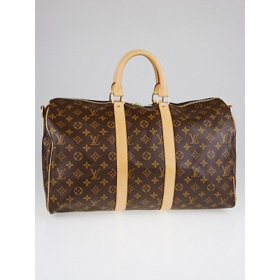 Louis Vuitton Monogram Canvas Keepall Bandouliere 45 Bag w/o Strap