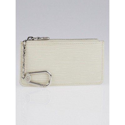 Louis Vuitton White Epi Leather Pochette Cles Key and Change Holder