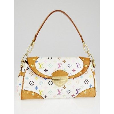 Louis Vuitton White Monogram Multicolore Beverly MM Bag