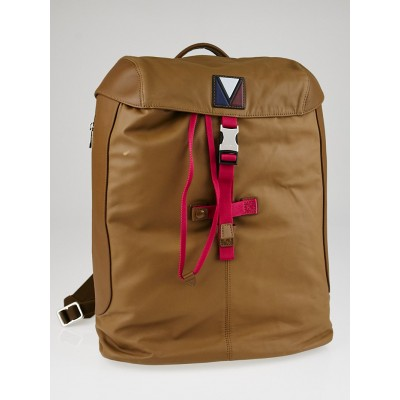 Louis Vuitton Brown Water Repellent Calfskin Leather Pulse Backpack Bag