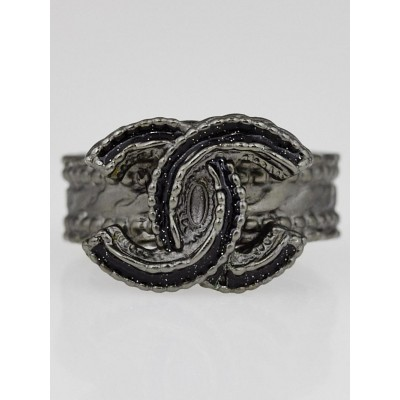 Chanel Metal CC Ring Size 6