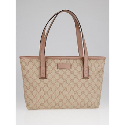 Gucci Beige/Pink GG Coated Canvas Small Tote Bag