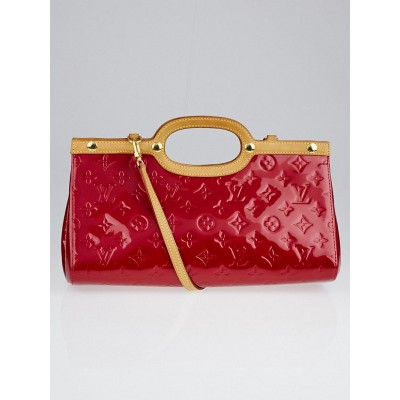 Louis Vuitton Red Monogram Vernis Roxbury Drive Bag