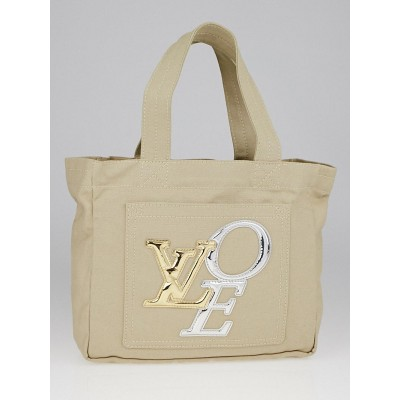 Louis Vuitton Limited Edition Ecru Canvas That's Love 2 Tote PM Bag