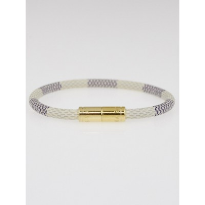 Louis Vuitton Damier Azur Canvas Keep It Bracelet