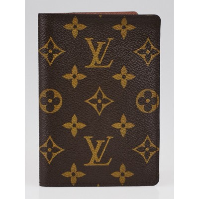 Louis Vuitton Monogram Canvas Passport Cover