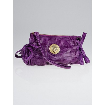 Gucci Purple Lizard Hysteria Clutch Bag