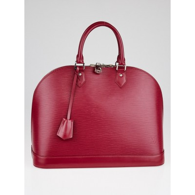 Louis Vuitton Fuchsia Epi Leather Alma GM Bag