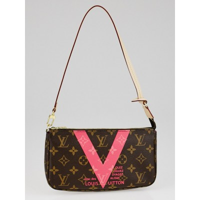 Louis Vuitton Limited Edition Grenade Monogram V Accessories Pochette NM Bag