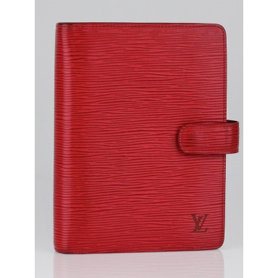 Louis Vuitton Red Epi Leather Medium Agenda Cover/Notebook