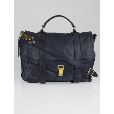 Proenza Schouler Midnight Leather Large PS1 Satchel Bag