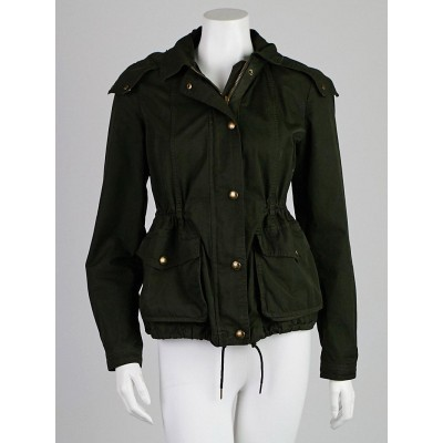 Burberry Brit Dark Green Cotton Anderford Jacket Size S