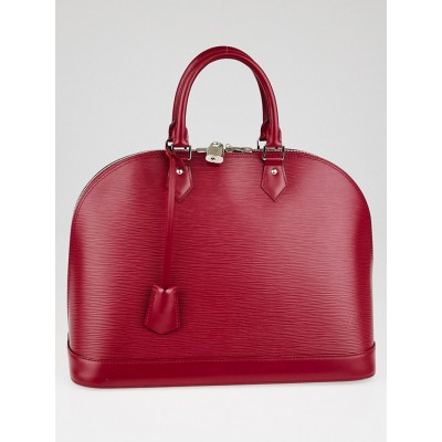 Louis Vuitton Fuschia Epi Leather Alma GM Bag